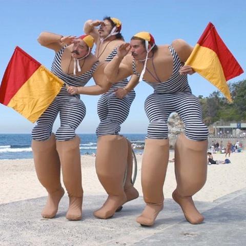 Life Safer Stilt characters, Sydney Australia