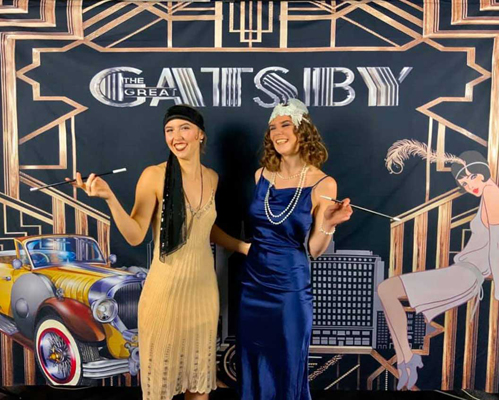 Photo Booth with Gatsby Backdrop
