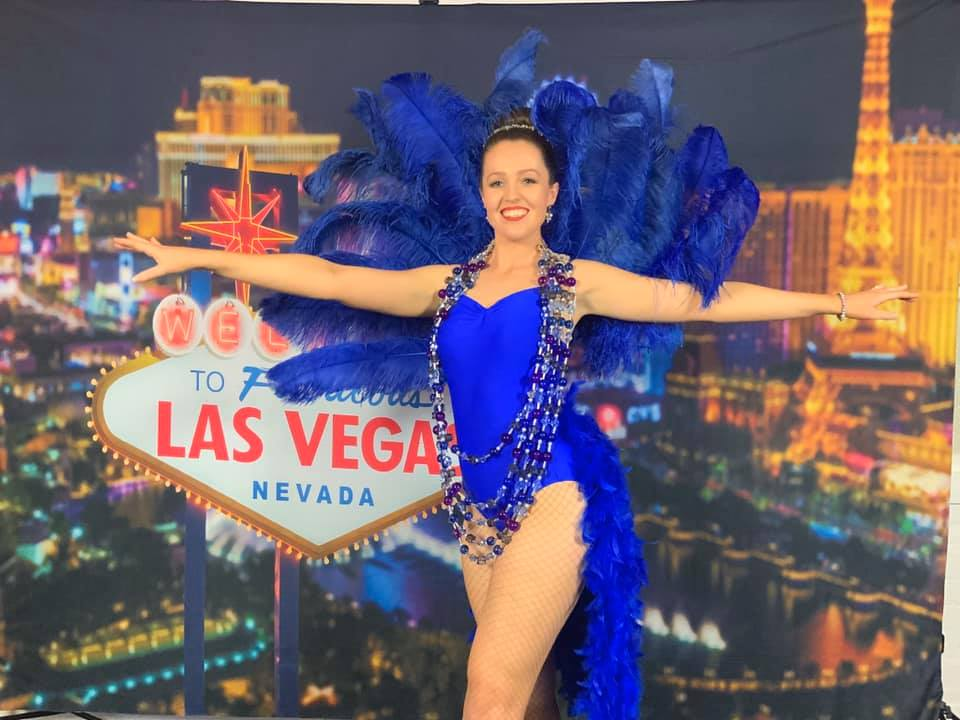 Photo Booth with Las Vegas Sign Backdrop